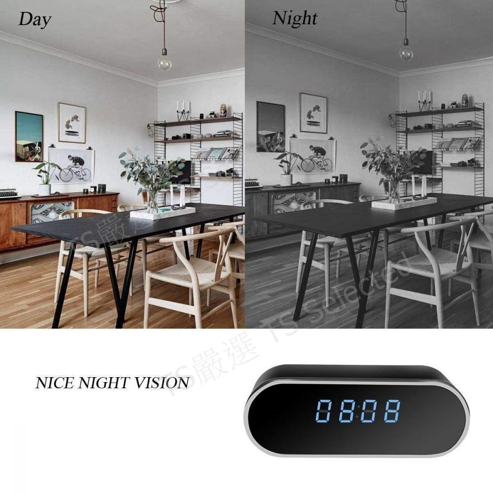 Night Vision Spy Camera Clock
